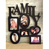 Portaretratos Family Para 6 Fotos Medidas Variadas Pintado
