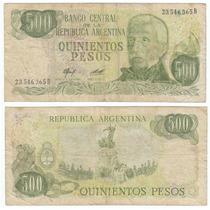 Argentina, Billete De 500 Pesos Ley 18188, Bottero 2425a