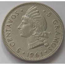Republica Dominicana 5 Centavos 1961 Casi Sin Circular!