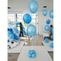 Centros De Mesa En Globos - Burbujas - Bautismo Comunión Cum