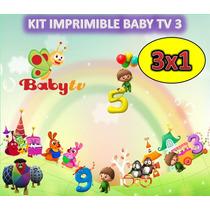 Kit Imprimible Baby Tv 3