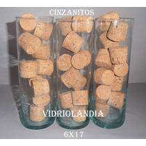 3 Cinzanitos De Vidrio, ,probeta, Cilindro, Tubos, Oferta!!!