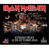 Entrada Iron Maiden Campo + Remera De Regalo!