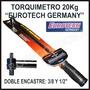 Torquimetro 20kg Doble Encastre 3/8 Y 1/2 Eurotech Germany