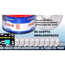 Dvd Verbatim -r Bulk X 50 Estampados (capital Envio Gratis )