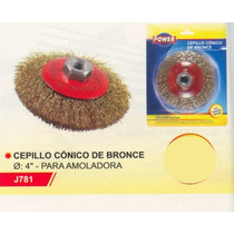 Cepillo Cónico De Bronce P/amoladora Power J781