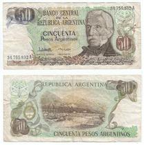 Argentina, Billete De 50 Pesos Argentino, Bottero 2619a