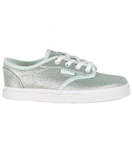 Zapatillas Vans Niñas Atwood Glitter Low Plateado - Envíos 4eb0e45a18f