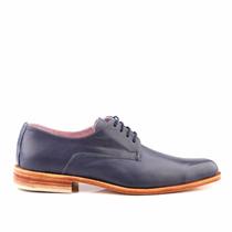 Zapato Niza Azul 100% - Cuero Legítimo - Marco Hombre