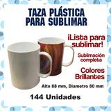 Taza Sublimable Plastica Polimero Unidad $50 C/u 12 Unidades