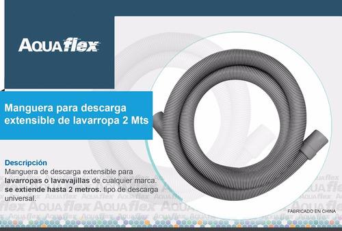 Manguera Flexible De Descarga Lavarropa 2 Metros Aquaflex