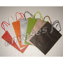 Bolsa Papel Color Manija Mercería Carteras Regalo Bijouterie