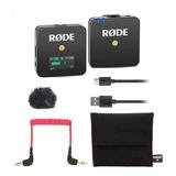 Micrófono Inalámbrico Rode Wireless Go Omnidireccional Negro