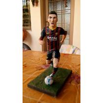 Figura Muñeco Messi En Masilla Epoxi Artesanal
