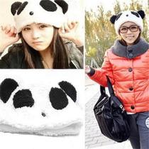 Gorro Peluche Oso Panda Abrigado