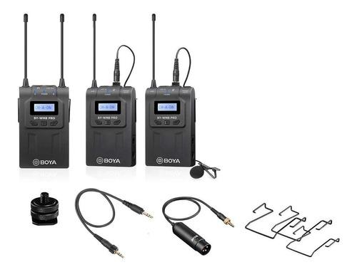 Set De Micrófonos Boya By-wm8 Pro K2 Condensador Omnidireccional Negro