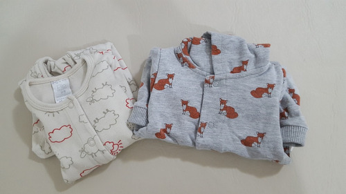 a01b29fd8 Enterito Osito Pijama Bebe Nene 1-3 Meses. Pack X2. Ckeeky.