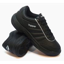Zapatillas Topper Modelo Tenis Tie Break 3 Color Negro