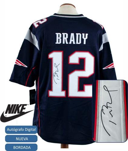 741eec53d7335 Camiseta Nfl Tom Brady Con Autografo New England Patriots Xl