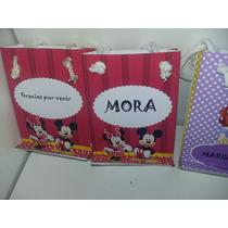 Bolsitas De Papel Para Golosinas Minnie Y Mickey Souvenirs,