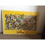 Lámina Cuadro De Los Simpsons Con Doble Vidrio 1x0,70m