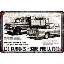 Poster Carteles Antiguos Chapa 60x40cm Ford Camion Au-019