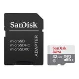 Tarjeta Memoria Sandisk Ultra Microsd 32gb Clase 10 80mb/s - Importadora Fotografica - Distribuidor Mayorista Sandisk