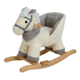 Mecedor De Peluche Carestino Caballo Blanco