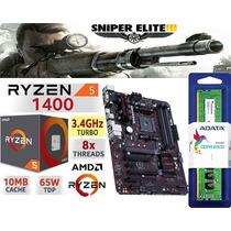 Combo Actualizacion Pc Ryzen 5 1400 Mother 4gb Ddr4 Hdmi