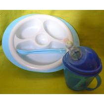 Set Plato Termico + Vaso Infantil Bebe Hay Otroscolores
