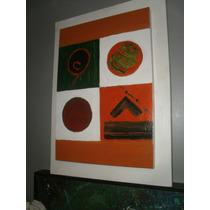 Cuadro Arte Moderno En Acrilico 0.40 X 0.50 Sobrerelieve