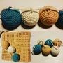 Guirnalda De Esferas De Crochet En Hilo De Algodón