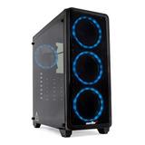 Gabinete Pc Gamer Sentey L20 4 Cooler Rgb Vidrio Templado Doble Filtro Antipolvo