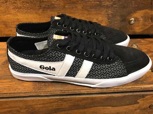 f8a5838eb2 Zapatillas Gola Modelo Súper Quarter Print Color Negras en venta en ...