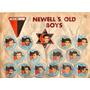 Figuritas Newells Hoja Album Fulbito 1964 Completa Monofco