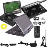Reproductor Portatil Dvd 9.8 Tv Fm Juegos Auto 220v-12v Usb
