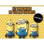 Kit Imprimible Editable Mi Villano Favorito, Minions, Candy