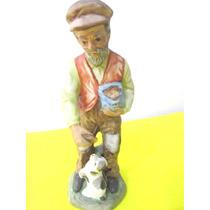 Figura Hombre Adorno Porcelana Tipo Capodimonte