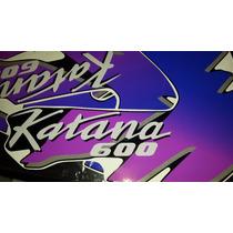 Calcos Suzuki Gsx 600 - 750- 1100 F Katana Moto Negra