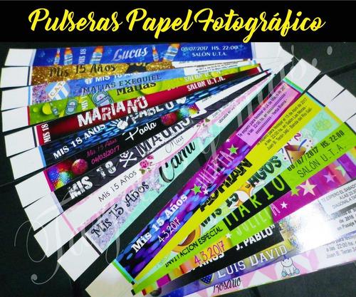 100 Pulseras Papel Fotográfico Oferta Del 23 Al 26 Dic. 2019