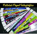 500 Pulseras Papel Fotográfico /15 /18 / Bodas / Eventos