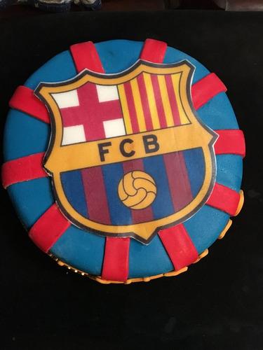 Tortas Decoradas Cumpleaños Fútbol Barcelona En Venta En