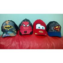 Gorra Personajes Disney Cars Batman Superman Spiderman Nene