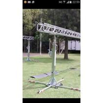 Torre Telescopica 5,20 Elevadora Malacate Patas Dj Tripode