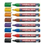 Marcador Edding 360 Para Pizarra Blanca X Unidad Vs/ Colores