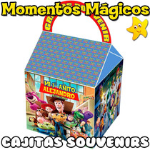 10 Cajitas Souvenirs Toy Story Valijita Bolsita Golosinera