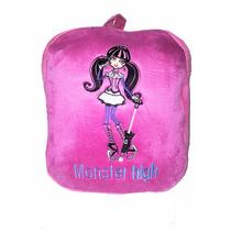 Mochila Infantil De Peluche Bordada Monster Hight