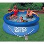 Pileta Intex 244 Bomba Cobertor Inflador Filtros Microcentro