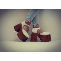 Zapatos Mujer Plataforma Botinetas