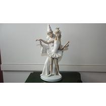Figura En Porcelana Lladro 2 Personajes Bailarina Balet